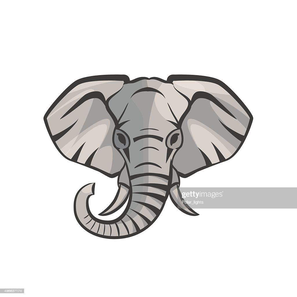 Vector Elephant portrait