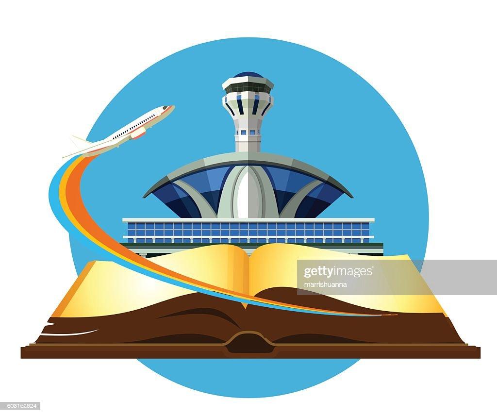 Vector emblem Airport