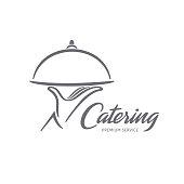 Vector emblem design. Catering service