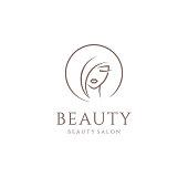 Vector emblem design for beauty salon, hair salon, cosmetic