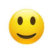Vector Emoji yellow smiley face
