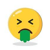 Vector Emoticon puke