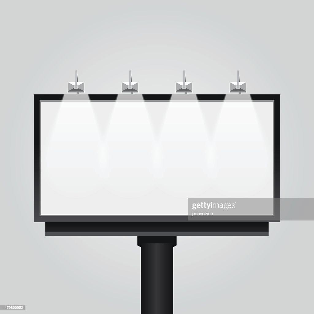 Vector empty billboard sign