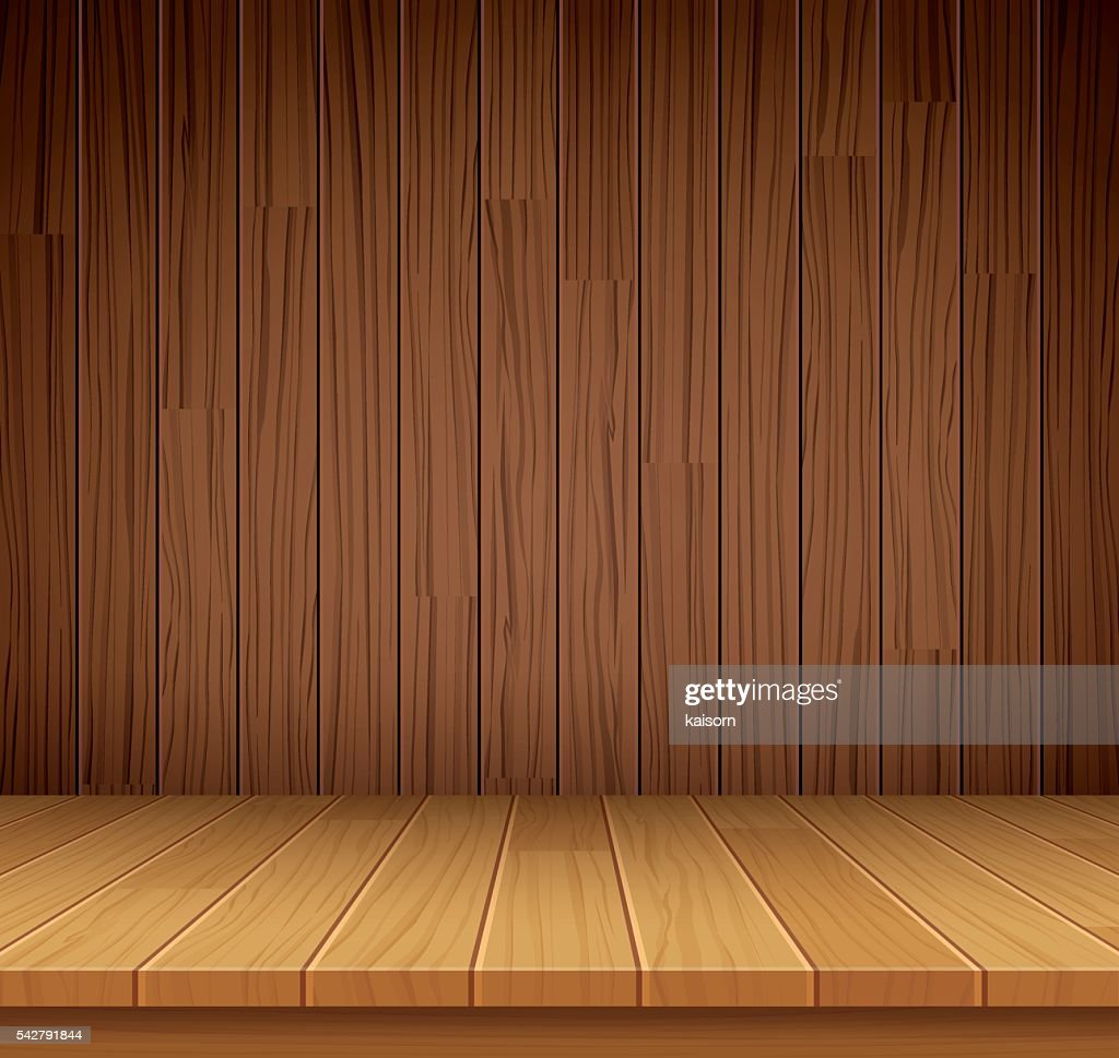 Vector empty wooden shelf background.Empty wood for your product