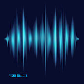 Vector equalizer, colorful musical bar