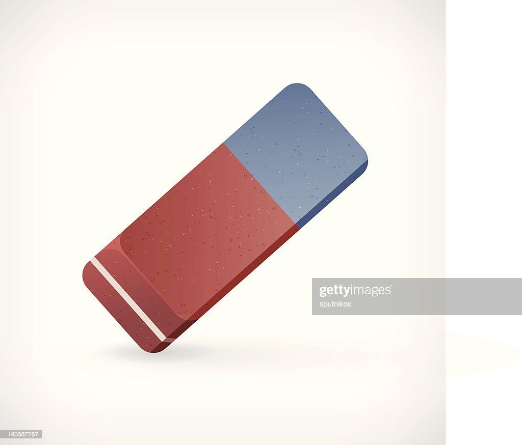 Vector eraser illustration