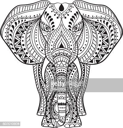 vector ethnic indian elephant vector art | thinkstock
