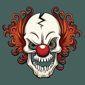 Vector evil clown