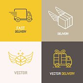 Vector express delivery service logo