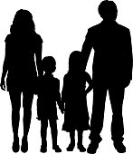 Vector family silhouette.
