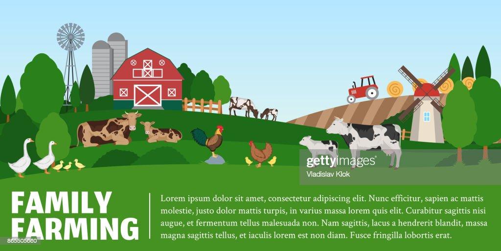 Vector farming landscape