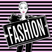 Vector fashion girl.