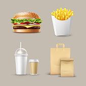 Vector Fast Food Set