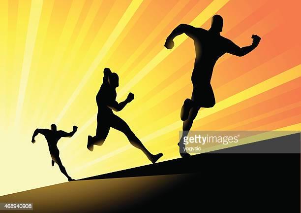 Vector Fast Running Superhero Silhouette
