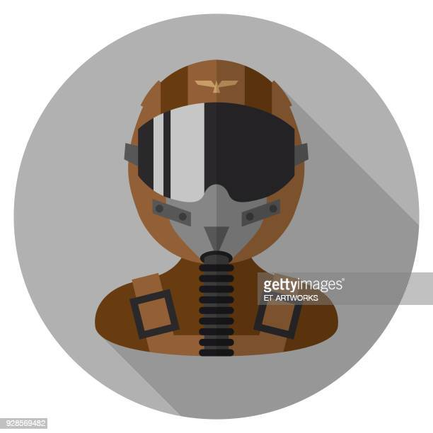 Vector Fighter Pilot Icon