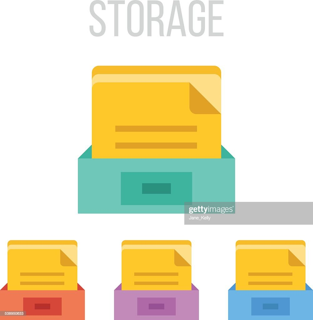 Vector file storage icons