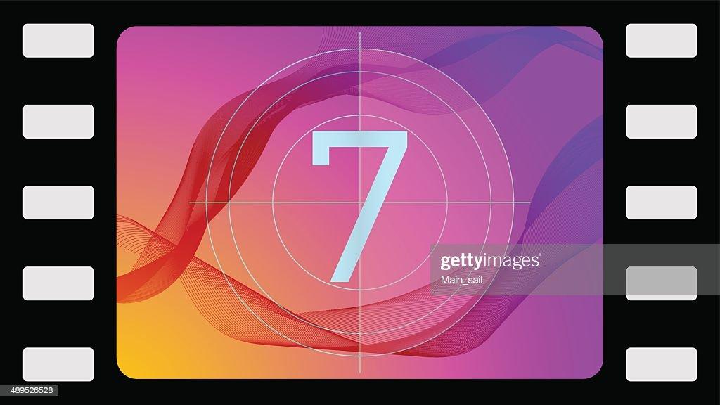 Vector film countdown seventh frame