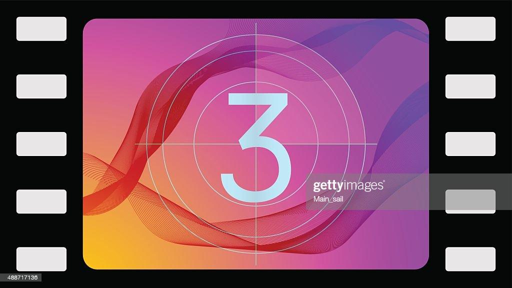 Vector film countdown third frame