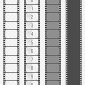 Vector film strip set.