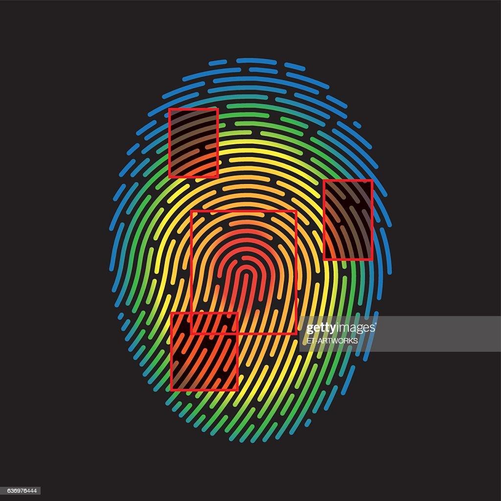 Vector Fingerprint : stock illustration
