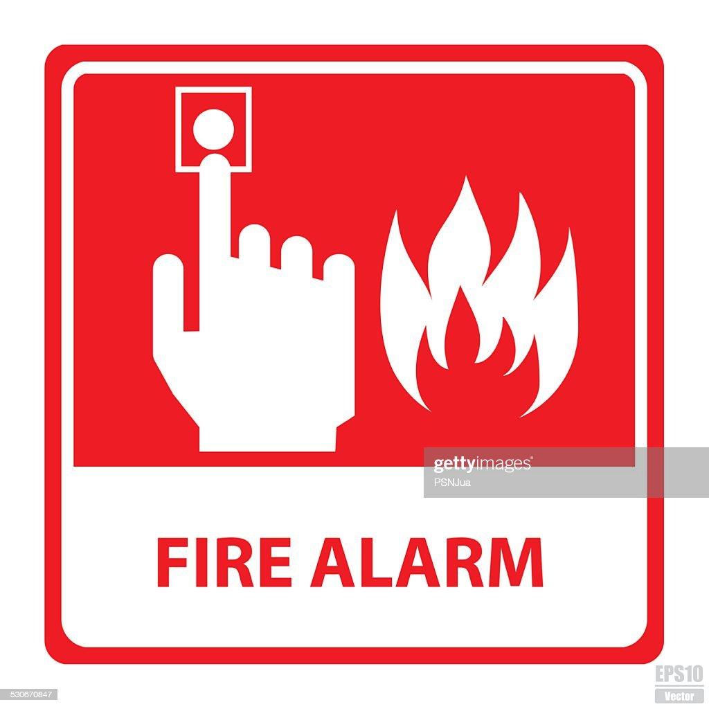 Vector : Fire alarm sign.Eps10