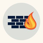 Vector firewall icon