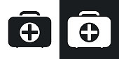Vector first aid box icon. Two-tone version