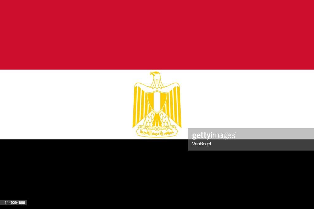 Vector flag of Egypt. Proportion 2:3. Egyptian national flag. Arab Republic of Egypt.