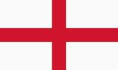 Vector flag of England. Proportion 3:5. English national flag.