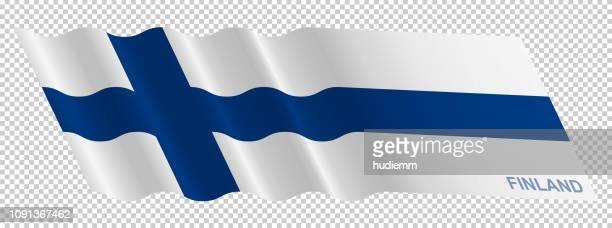 vector flag of finland waving background - helsinki stock illustrations, clip art, cartoons, & icons