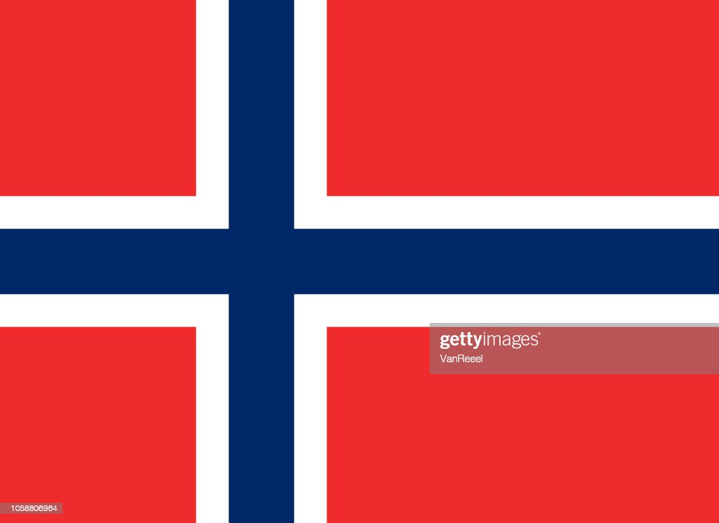 Vector flag of the Kingdom of Norway. Proportion 8:11. The national flag of Norway.