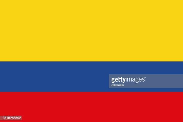 vektorflagge der republik kolumbien. nationalflagge von kolumbien. abbildung - national team stock-grafiken, -clipart, -cartoons und -symbole