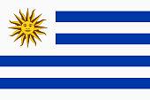 Vector flag of Uruguay. Proportion 2:3. Uruguayan national flag.