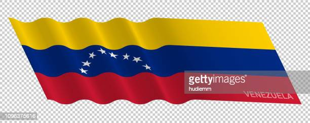Vector flag of Venezuela waving pattern background