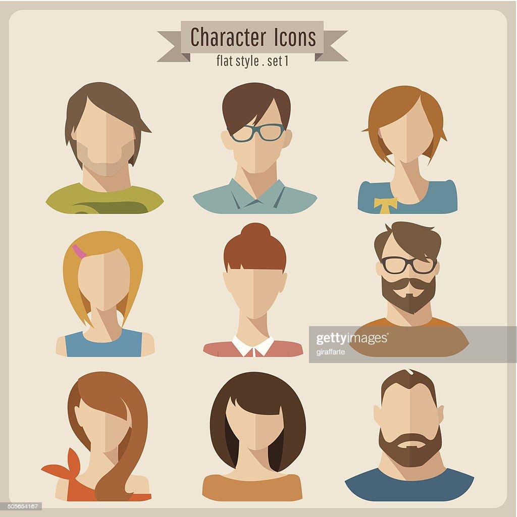 Vector flat characters