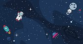 Vector flat cosmos design background