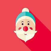 Vector Flat Design Santa Claus Icon