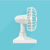 Vector flat icon for fan