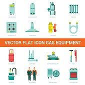 Vector flat icon gas equipment
