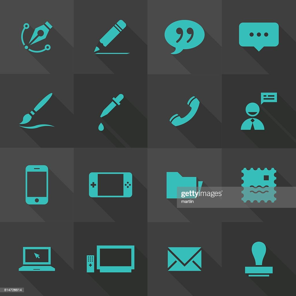 Vector Flat Icon Set - Contact