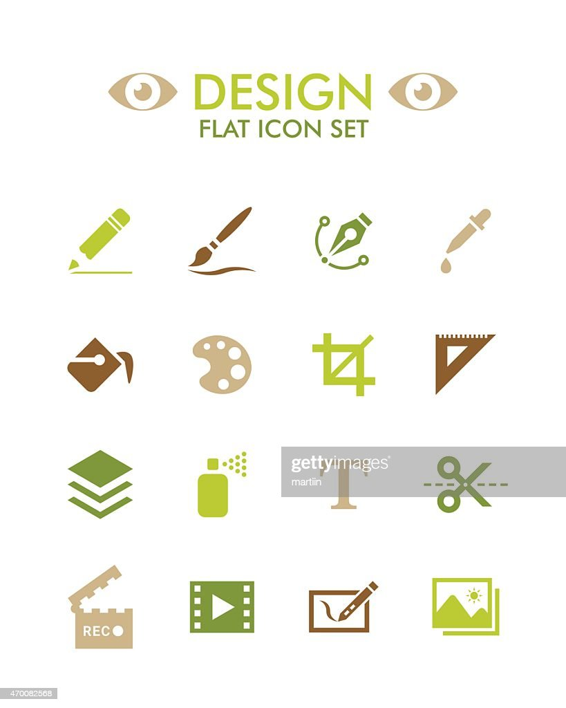 Vector Flat Icon Set - Design