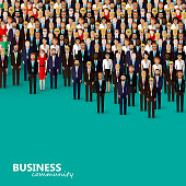 vector flat illustration of business or politics community