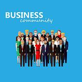 vector flat  illustration of business or politics community.