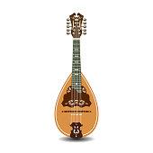 Vector flat illustration of mandolin
