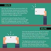 Vector flat illustration. Selfie infographic web template