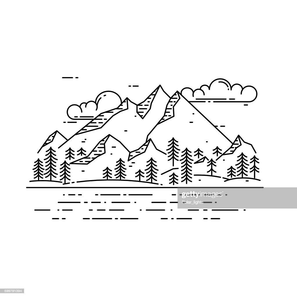 Vector flat linear landscape.