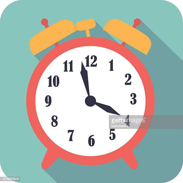 vector flat style alarm clock icon
