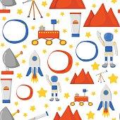 Vector flight Mars cartoon background