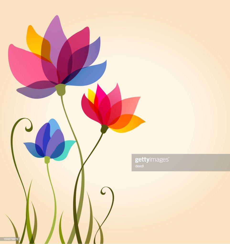 A vector floral background design