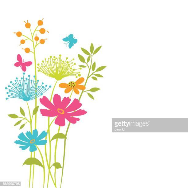 vector floral background . - single flower stock illustrations